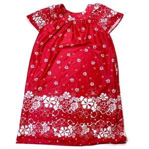 Anthony Richards Vintage Red Floral Dress Mumu M